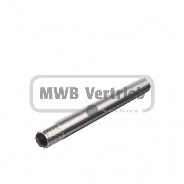 V2A Distanzspindel Ø16 mm, einseitig Außengewinde, geschliffen Korn 400
