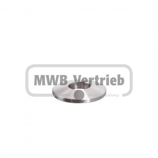 V2A Trapezscheibe Ø40 x 6 mm mit Durchgangsbohrung 16,0 mm