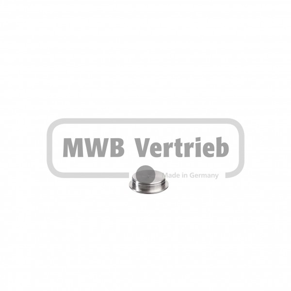V2A Abdeckkappe Ø23,6 mm x 20 mm, flach, für Holzlochbohrung
