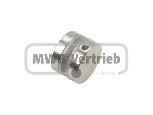 BG Glaspunkthalter Ø 30 mm, für Glasstärken 6-8 mm, Scheibenbohrung Ø 14 mm, mit Gewindestift A2 M8x