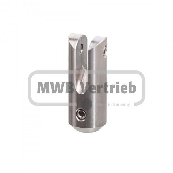 V2A Querstabhalter 45 mm lang, 45° für Relingstab Ø 10 mm, für T-Pfosten