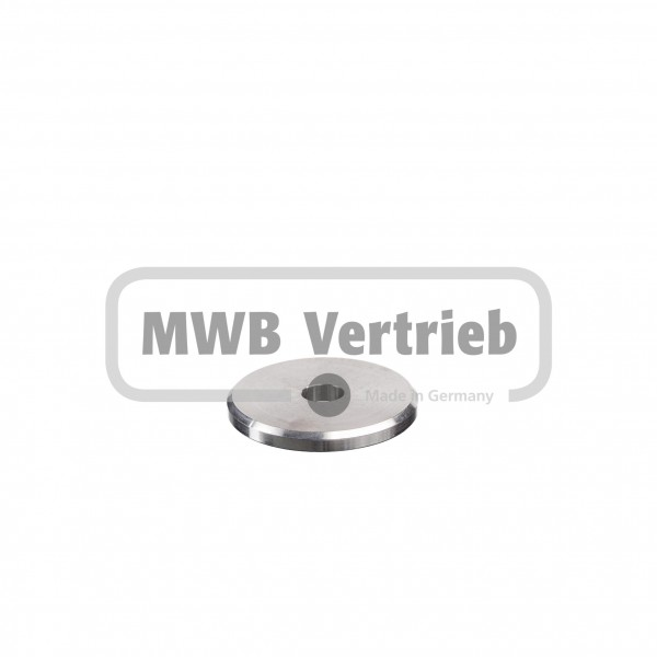 V2A Trapezscheibe Ø50 x 5 mm, mit Durchgangsbohrung 11,0 mm