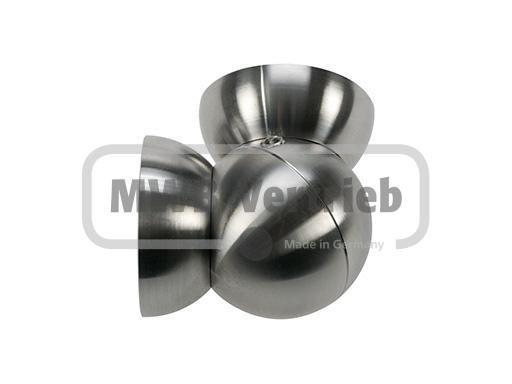 Rohr Gelenk Kupplung für Ø50, Holzhandlauf 90° - 270° Grad verstellbar