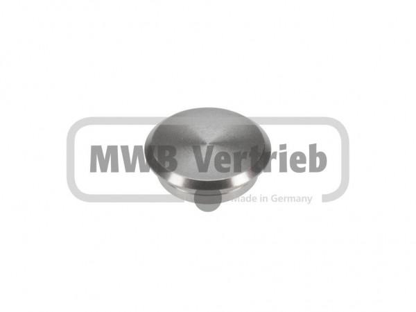 V2A Abdeckkappe Ø18 x 6 mm, flach