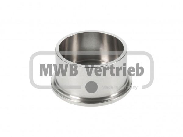 V2A Sprossenschuh Ø55 mm, ohne Gewinde für Distanzspindel 42,4 mm
