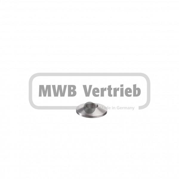 V2A Trapezscheibe Ø30 x 6 mm, mit Durchgangsbohrung Ø12,1mm