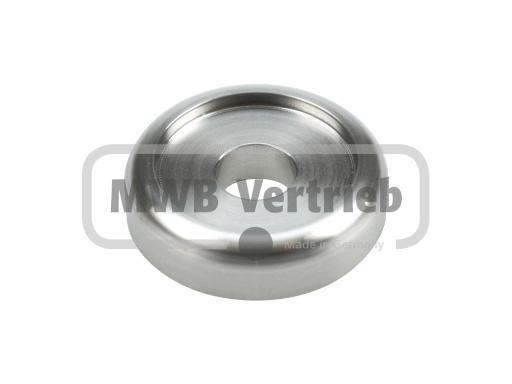 V2A Designscheibe Ø40 x 10 mm, mit Durchgangsbohrung Ø30,3 mm, Durchgangsbohrung Ø12 mm