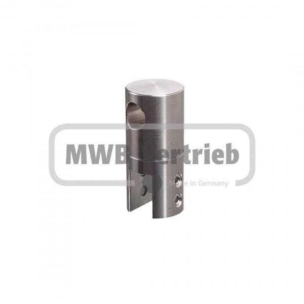 V2A Querstabhalter für Flachpfosten 40x10 mm, Reling: 10 mm