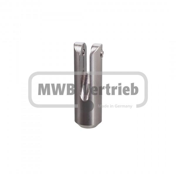V2A Querstabhalter 55 mm lang, 30° für Relingstab Ø 10 mm, für T-Pfosten
