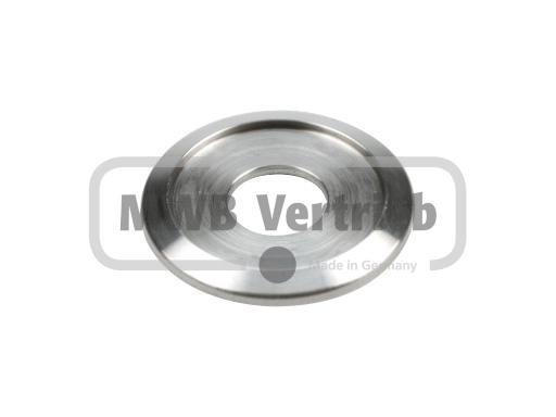 V2A Trapezscheibe Ø39 x 3,5 mm, mit Ausdrehung Ø30 x 1,5 mm, und Durchgangsbohrung Ø14 mm