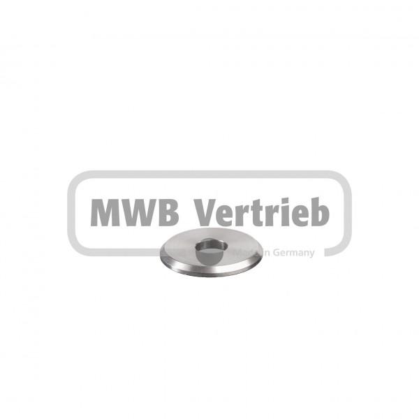 V2A Trapezscheibe Ø40 x 4 mm, mit Durchgangsbohrung Ø12,5 mm