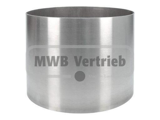 V2A Spindelhülse Ø204 x 2 mm, für Spindeltreppen bis 200 mm, Wst.1.4301, geschliffen, innen und auße