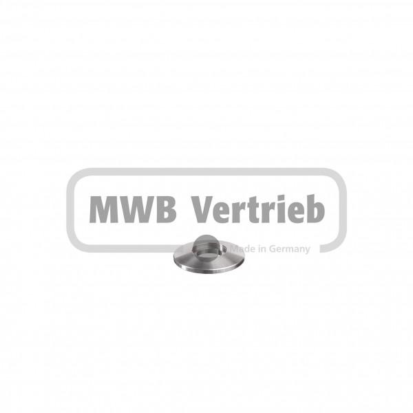 V2A Trapezscheibe Ø30 x 4 mm, mit Ausdrehung Ø14,2 x 1,5 mm, und Durchgangsbohrung Ø10,2 mm