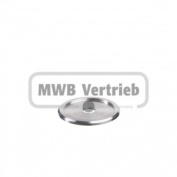 V2A Trapezscheibe Ø60 x 4 mm mit Ausdrehung Ø48,7 x 2,0 mm und Durchgangsbohrung 12,0 mm