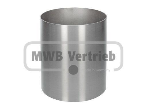 V2A Spindelhülse Ø154 x 2 mm, für Spindeltreppen bis 200 mm, Wst.1.4301, geschliffen, innen und auße