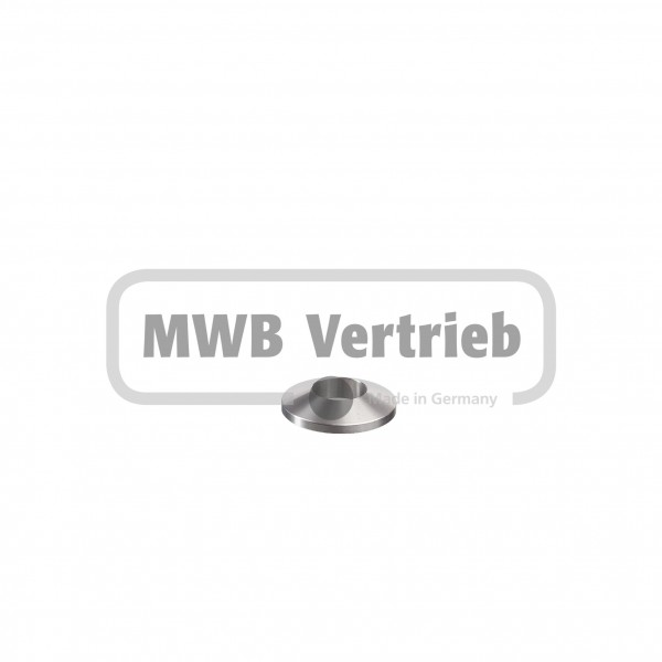 V2A Trapezscheibe Ø30 x 6 mm, mit Durchgangsbohrung Ø14,1mm