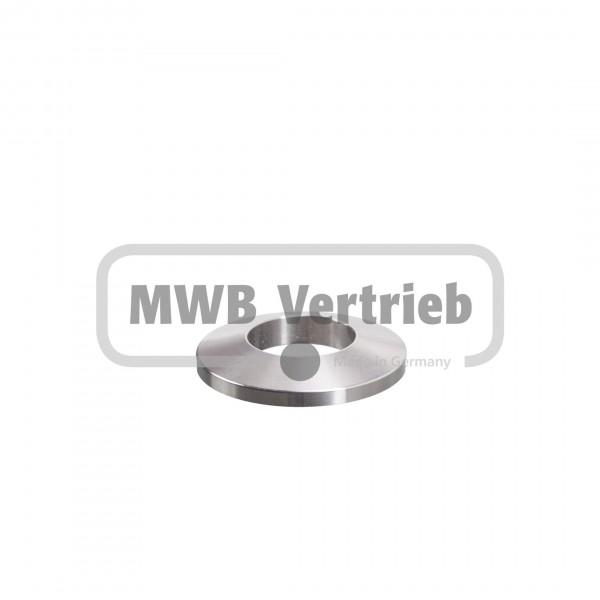 V2A Trapezscheibe Ø40 x 6 mm, und Durchgangsbohrung Ø20,2 mm