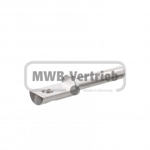 V2A Auflagebolzen Ø16x25x132mm, Bolzenlänge: 82 mm, Auflagefläche: 45 mm