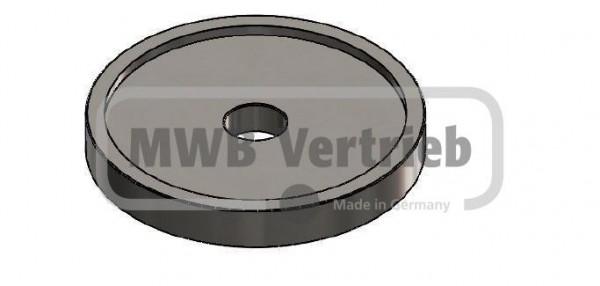 V2A Unterlegscheibe Ø 60x8 mm, mit Ausdrehung 53,4 x 2,0 mm, und Durchgangsbohrung Ø11 mm