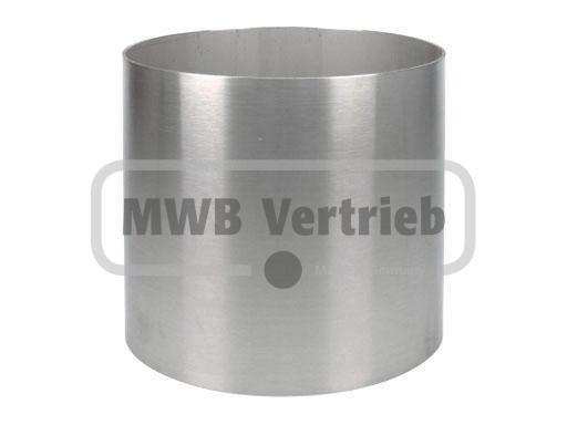 V2A Spindelhülse Ø168 x 2 mm, für Spindeltreppen bis 200 mm, Wst.1.4301, geschliffen, innen und auße