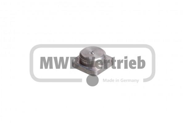 V2A Quadratkappe für Quadratrohr 16x16 1,5 mm