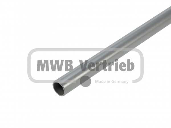 Stab Ø16x1,5 mm RAL 9006, Silber pulverbeschichtet, ohne Gewinde, ohne Scheibe