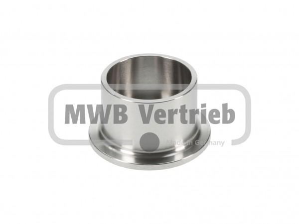 V2A Sprossenschuh Ø50 mm, ohne Gewinde für Rohr Ø33,7