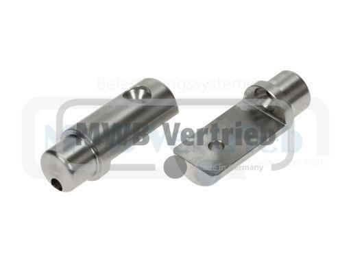 V2A Auflagebolzen Ø20x25x65mm, Bolzenlänge: 15 mm, Auflagefläche: 45 mm