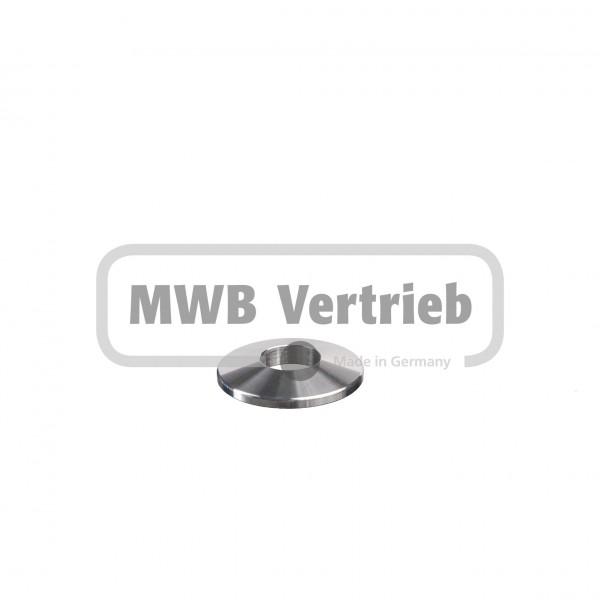 V2A Trapezscheibe Ø40 x 6 mm, mit Durchgangsbohrung Ø16,2 mm und Fase