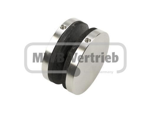 BG Glaspunkthalter Ø 45mm, für Glasstärken 10-12 mm, Scheibenbohrung Ø 20 mm, mit Gewindestift A2 M8
