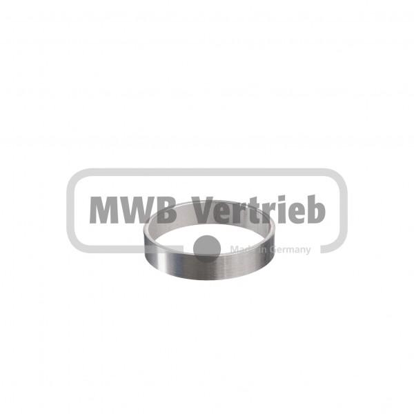 V2A Ring rund Ø50x2,0x10 mm, Wst. 1.4301 geschliffen, Korn 400