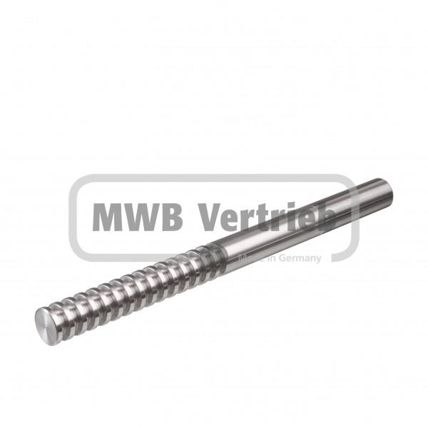 V2A Schiebebolzen Ø16 x 210 mm, Nutenbreite 3,5mm aus Vollmaterial