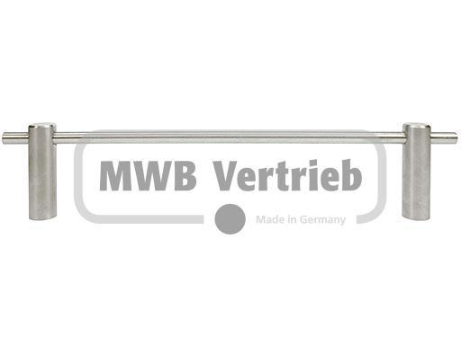 V2A Kinderschutzleiste dreiteilig mit 8 mm Querstab Länge 800 - 1000 mm einschl. 2 Halter und 2 Nipp