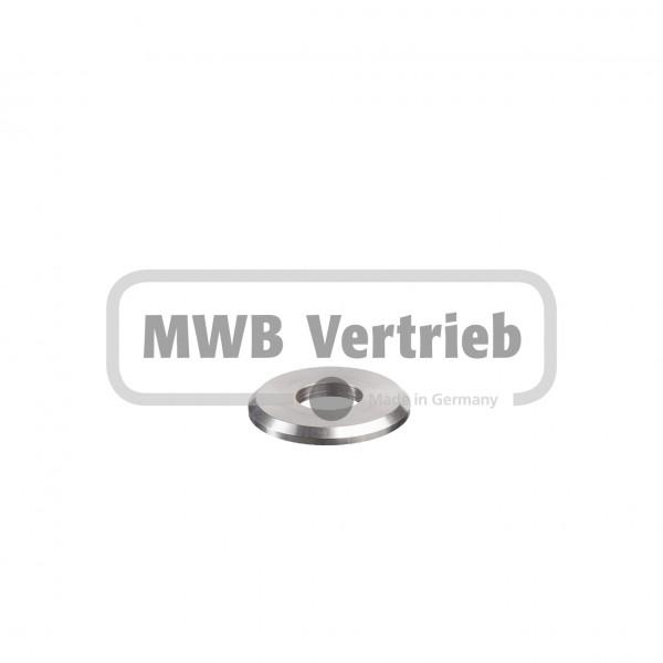 V2A Trapezscheibe Ø40 x 4 mm mit Durchgangsbohrung 16,2 mm