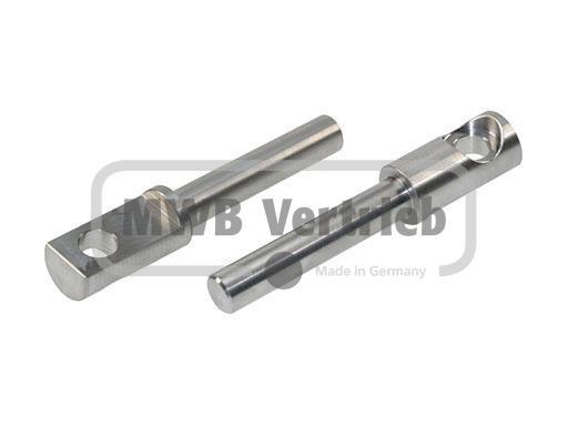 V2A Auflagebolzen Ø16x25x132mm, ohne Mutter Art.Nr.: 50010930, Bolzenlänge: 82 mm, Auflagefläche: 45