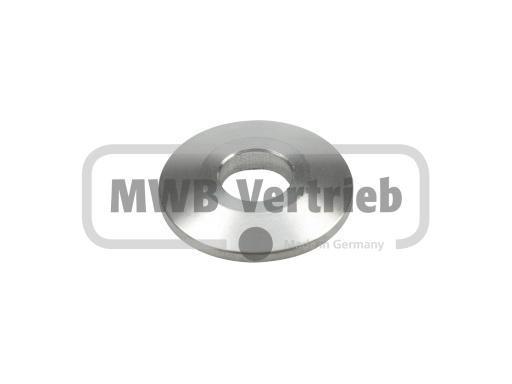 V2A Trapezscheibe Ø30 x 4 mm, und Durchgangsbohrung Ø11 mm