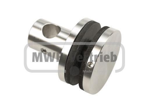 Glashalter Ø 45 für Rohr 20 mm, Glasstärke 10 - 12 mm, Scheibenbohrung Ø 20 mm