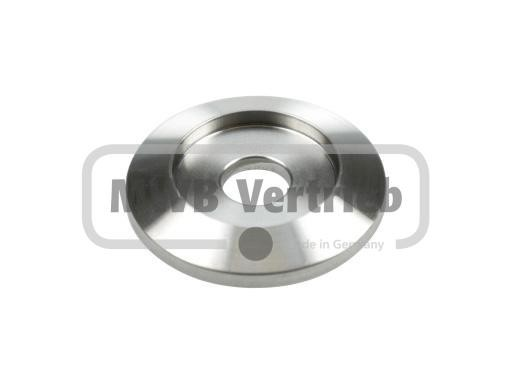 V2A Trapezscheibe Ø40 x 6 mm, mit Ausdrehung Ø25 x 3 mm, und Durchgangsbohrung Ø10,5 mm