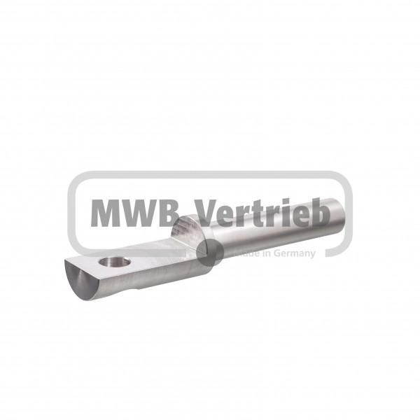V2A Auflagebolzen Ø16x25x130mm, Bolzenlänge: 75mm, Auflagefläche: 50 mm