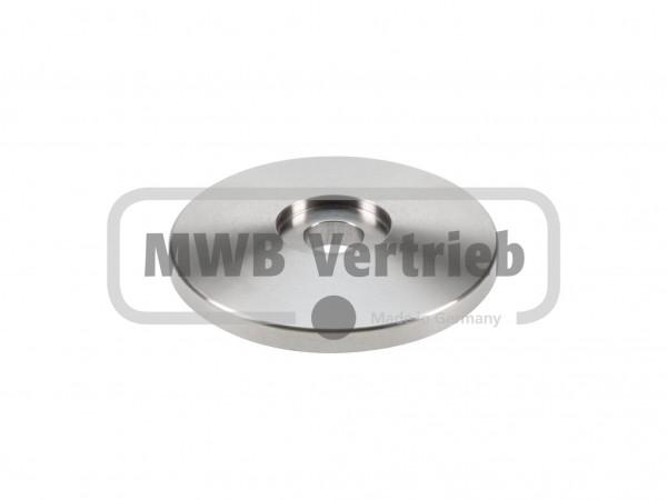 V2A Trapezscheibe Ø60 x 8 mm, mit Ausdrehung Ø20,4 x 2,5 mm, und Durchgangsbohrung 10,6 mm