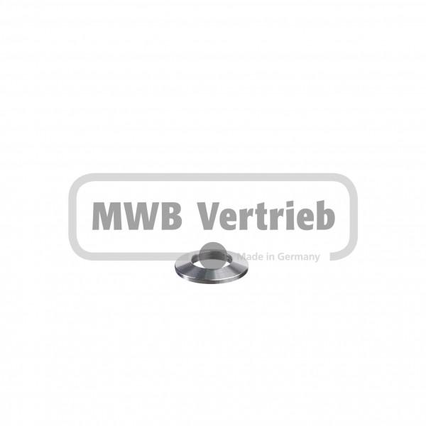 V2A Trapezscheibe Ø30 x 4 mm und Durchgangsbohrung 16,3 mm