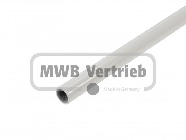 Stab Ø16x1,5 mm RAL 9010, weiß pulverbeschichtet, ohne Gewinde, ohne Scheibe