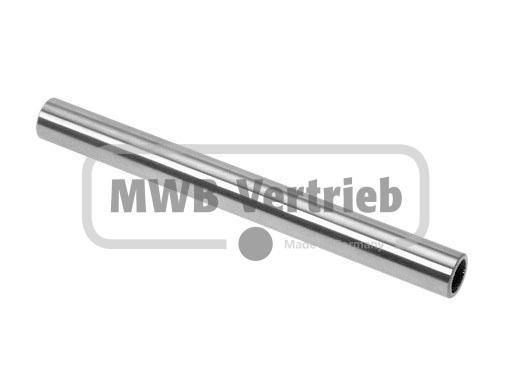 V2A Stufenbolzen Ø16x2,0x100mm, Rohrmaterial, geschliffen K400