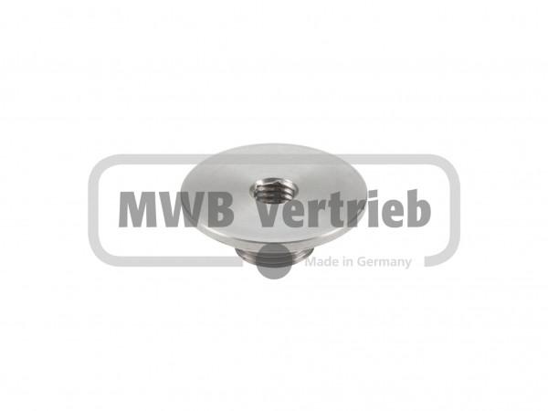 V2A Gewindescheibe Ø40 / M18, mit Innengewinde M10, SW 8, für V2A Rohr Ø20 mm