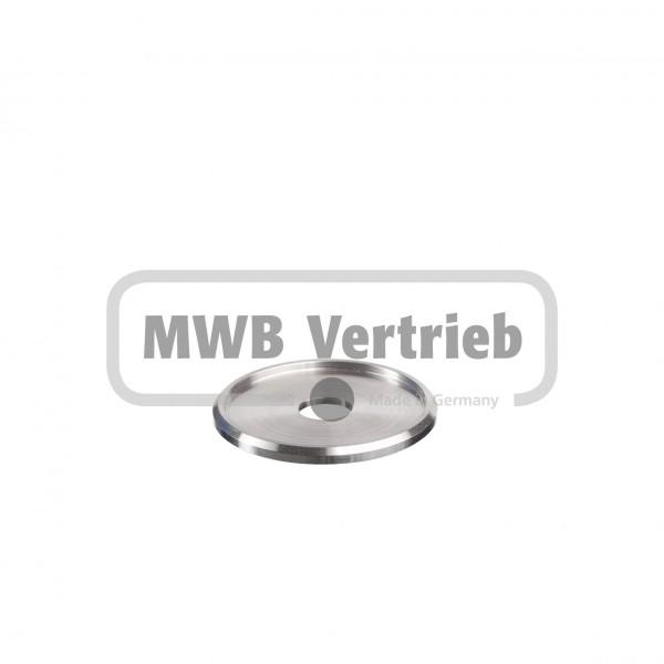 V2A Trapezscheibe Ø55 x 4 mm, mit Ausdrehung Ø48,4 x 2,0 mm, und Durchgangsbohrung 13,0 mm