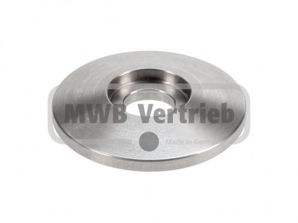 Trapezscheibe Ø40 x 6 mm, mit Ausdrehung Ø16,7 x 3 mm und Durchgangsbohrung Ø10,5 mm -> für Pulverbe