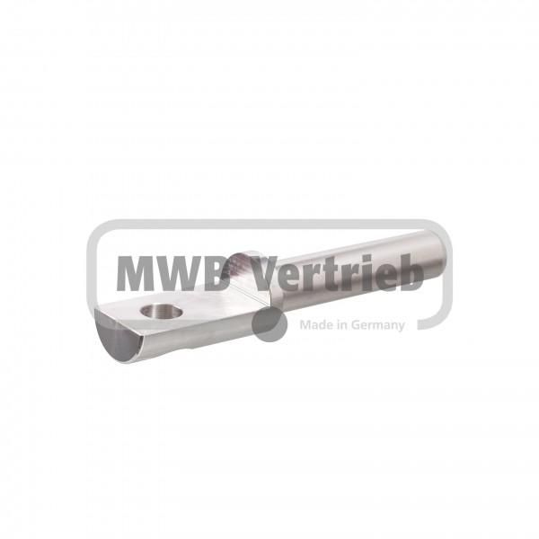 V2A Auflagebolzen Ø16x25x122mm, Bolzenlänge: 72 mm, Auflagefläche: 45 mm