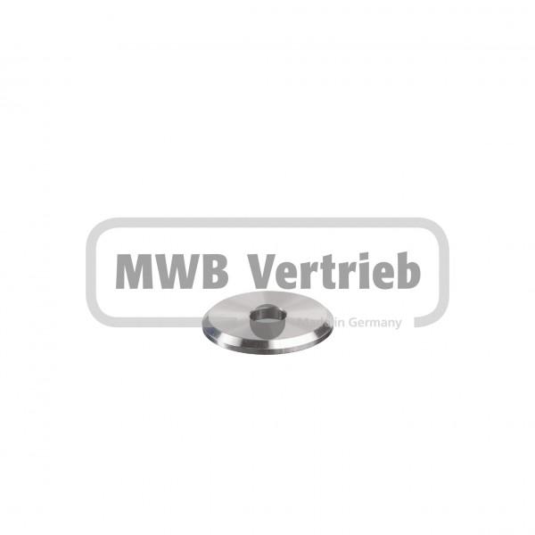V2A Trapezscheibe Ø40 x 4 mm, mit Durchgangsbohrung 11,0 mm