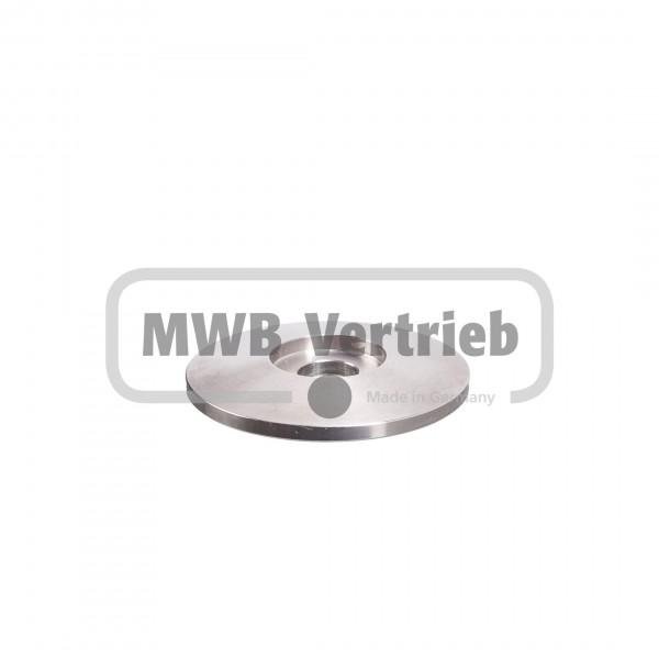 V2A Trapezscheibe Ø50 x 6 mm, mit Ausdrehung Ø20,0 x 3,0 mm, und Durchgangsbohrung 11,0 mm