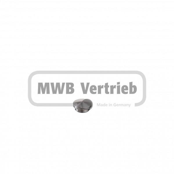 V2A Abdeckkappe Ø18,5 x 6 mm, gewölbt